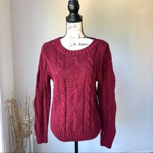 Anthropologie Oona and Maud knit sweater red S